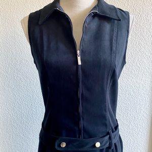 ZIPPER SHIRT DRESS WITH BELT